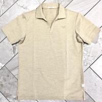 MOCO [ 21-2201442 ] リランチェ変型鹿の子半袖シャツ - ベージュ(52)