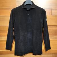 MOCO [ 21-2202913 ] T/C JQワッフル【長袖2Bワイドカラーシャツ】ブラック(19)