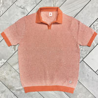 JWO [ 41-1201241 ] ブークレーJQ半袖スキッパーシャツ - オレンジ(35)