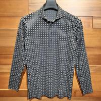 MOCO [ 21-2202912 ] ジオメタリックJQ【長袖4Bワイドカラーシャツ】ブラック(19)