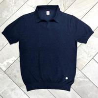 JWO [ 41-1201240 ] ブークレー半袖スキッパーシャツ - ネイビー(98)