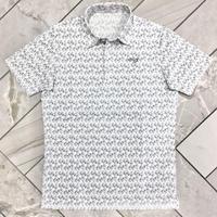 MOCO [ 21-2201443 ] フラワープリント半袖シャツ - ライトグレー(11)
