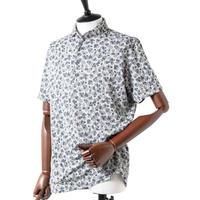 MOCO [ 21-2211344 ] カスレフラワージャガード【半袖シャツ】 - ネイビー(98)