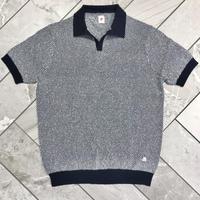 JWO [ 41-1201241 ] ブークレーJQ半袖スキッパーシャツ - ネイビー(98)