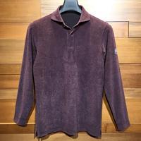 MOCO [ 21-2202913 ] T/C JQワッフル【長袖2Bワイドカラーシャツ】ボルドー(88)