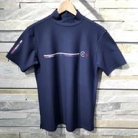 Camicia Sportiva+ [ 51-2201243 ] プラスリッチ半袖モックカットソーシャツ - ネイビー(98)