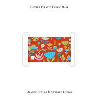 センタープリーツ マスク / オレンジ フューチャー フラワーベッド デザイン