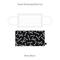 二つ折り マスクケース / ボーンズ デザイン (蓄光プリント)
