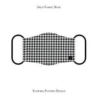 Split Fabric Mask / Houndstooth Pattern Design