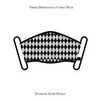 立体式 マスク / ダイアモンド シェープ デザイン ( ホワイト )