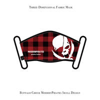 * Limited Items * Three-Dimensional Mask / Buffalo Check ModernPirate Skull (Red)