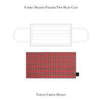 Fabric Magnet Folded Two Mask Case / Tartan Check Design