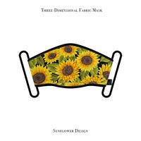 Three-Dimensional Fabric Mask / Sunflower Design