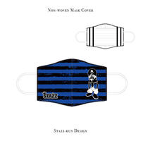 * Limited items for production * Mask Rubber sand cover / STAZZ-kun Design (Border/ Blue )