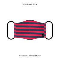 Split Fabric Mask / Horizontal Stripes Design