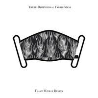 立体式 マスク / フレーム ウーマン デザイン