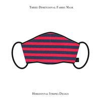 Three-Dimensional Fabric Mask / Horizontal Stripes Design