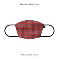 Refillable Fabric Mask / Tartan Check Design