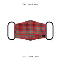 Split Fabric Mask / Tartan Check Design