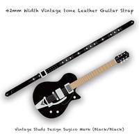 【 ギターストラップ / ヴィンテージ スタッズ デザイン SUGIZO Model 005 ( 42mm幅 ヴィンテージ トーンレザー ) 】