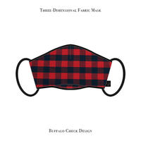 Three-Dimensional Fabric Mask / Buffalo Check Design