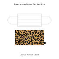 Fabric Magnet Folded Two Mask Case / Leopard Pattern Design