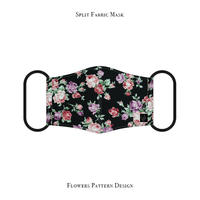 Split Fabric Mask / Flowers Pattern Design