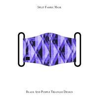 スプリット マスク / ブラック& パープル トライアングル デザイン