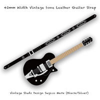 【 ギターストラップ / ヴィンテージ スタッズ デザイン SUGIZO Model 003 ( 42mm幅 ヴィンテージ トーンレザー ) 】