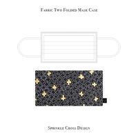 二つ折り マスクケース /  スプリンクル クロス デザイン