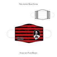 * Limited items for production * Mask Rubber sand cover / STAZZ-kun face design (Border/ Hot Red )