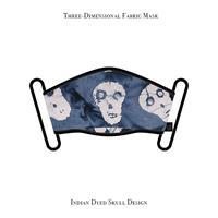 立体式 マスク / インド染めスカル デザイン