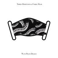 立体式 マスク / ウェーブ ピアノ デザイン