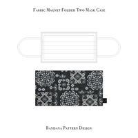 Fabric Magnet Folded Two Mask Case / Bandana Pattern Design