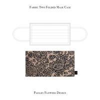 Fabric Two Folded Mask Case / Paisley Flowers Design
