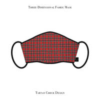 Three-Dimensional Fabric Mask / Tartan Check Design