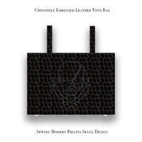 【 Emboss Crocodile Leather Tote Bag 】