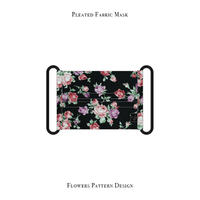 Pleated Fabric Mask / Flowers Pattern Design