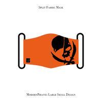 *製作分限定アイテム* スプリット マスク / モダンパイレーツ ラージ スカル デザイン(ホットオレンジ/ブラック )