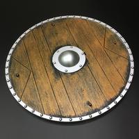 ウッド円盾 シールド プラスチック製