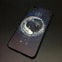 【河図洛書-太極陰陽魚】iPhone用ソフトカバー 収納ポーチ付き