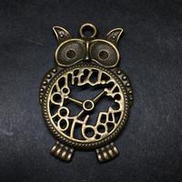 『梟の時計』金属素材 長さ4.5cm