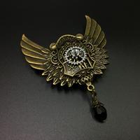 盾型歯車の翼 金属製バッジ 胸章