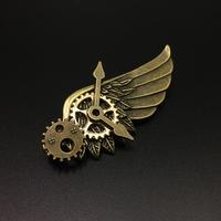 時を翔ける歯車の翼 金属製バッジ 胸章