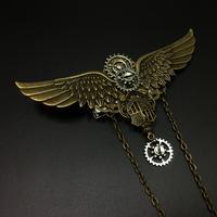 歯車の翼 金属製バッジ 胸章