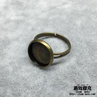 指輪素材 リングパーツ 金属製 フリーサイズ 商品番号R-0008