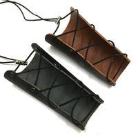 【ブラック・ブラウン】本革製篭手 leather wrist strap