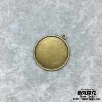【10点セット】ペンダント素材 31mm x 28mm 金属製ハンドメイド素材 商品番号P-0042
