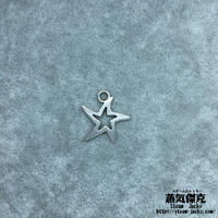 【20点セット】五芒星風ペンダント素材 17.8mm x 17.2mm 金属製ハンドメイド素材 商品番号S-0042