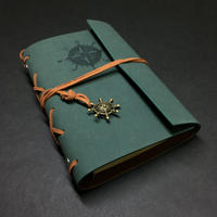 【蓬色 (よもぎいろ)】航海士の手帳 レザー製表紙